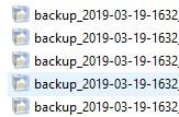 UpdraftPlusでバックアップ完了2