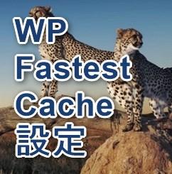 WP Fastest Cache 設定