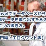 入門!laravelでデータベースから取得。クエリの書き方(エロクワント版)